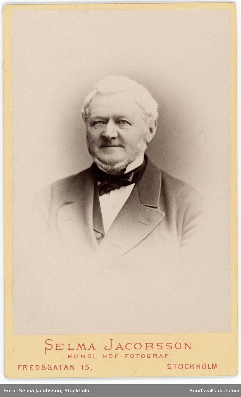 Porträtt på grosshandlare Nils Wikström.