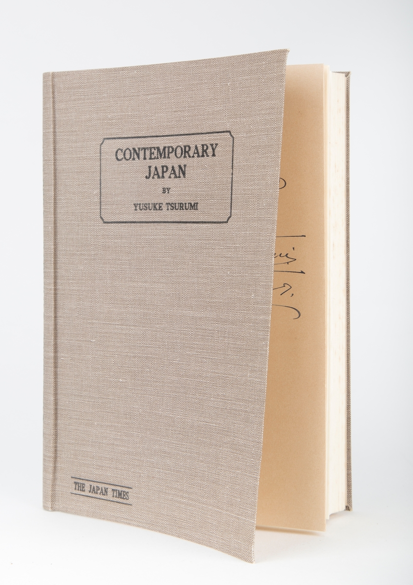 "Tittel:""Contemporary Japan"" Forfatter Yusuke Tsurumi The Japan Times"