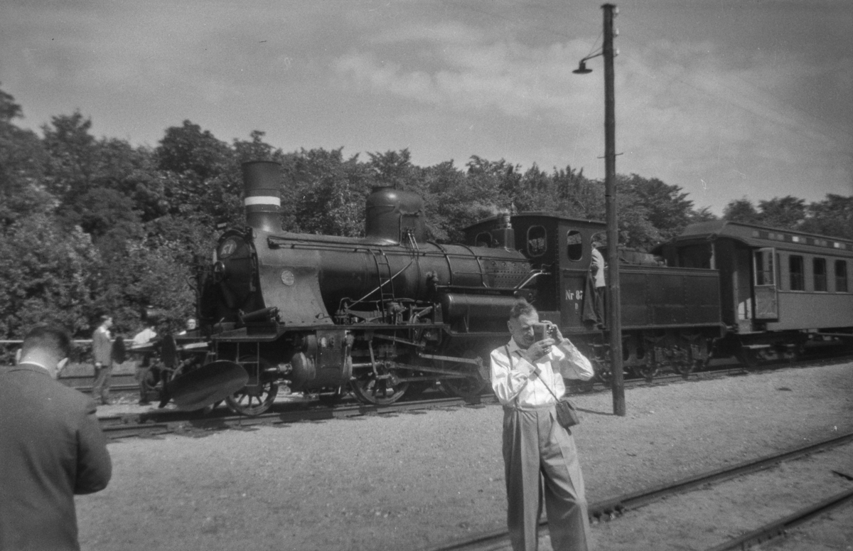 Dansk damplokomotiv type D nr. 871 i Ullerslev i Danmark