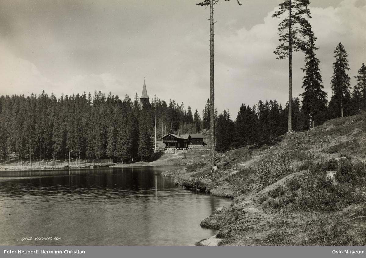 vann, skog, Peisestuen, Holmenkollen kapell