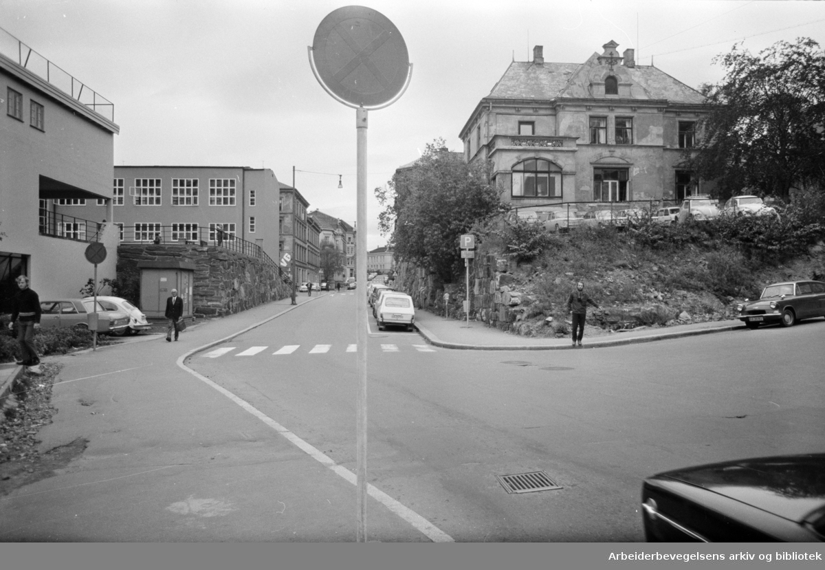 Ruseløkka skole. Oktober 1971