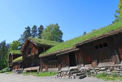 Tun fra Setesdal, Norsk Folkemuseum. Foto: Astrid Santa, Norsk Folkemuseum
