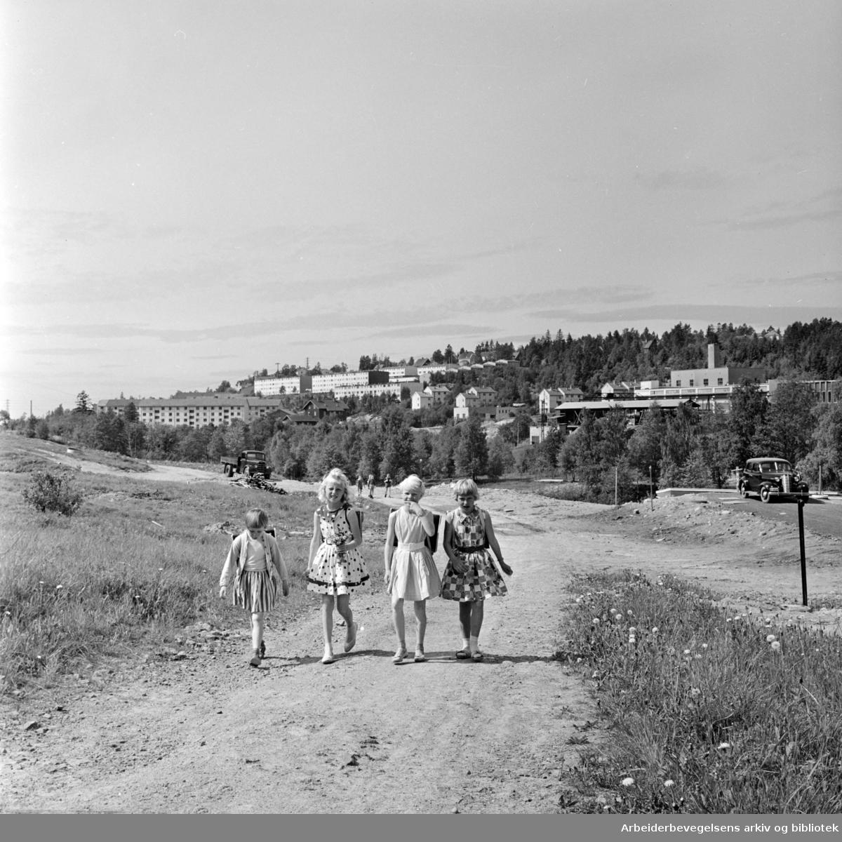 """Nydalen: """"På nordkalotten i Nydalen"""". Juni 1962"""