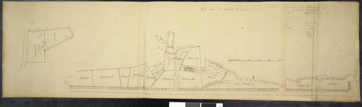 Løst kart over Gaarden Oveland