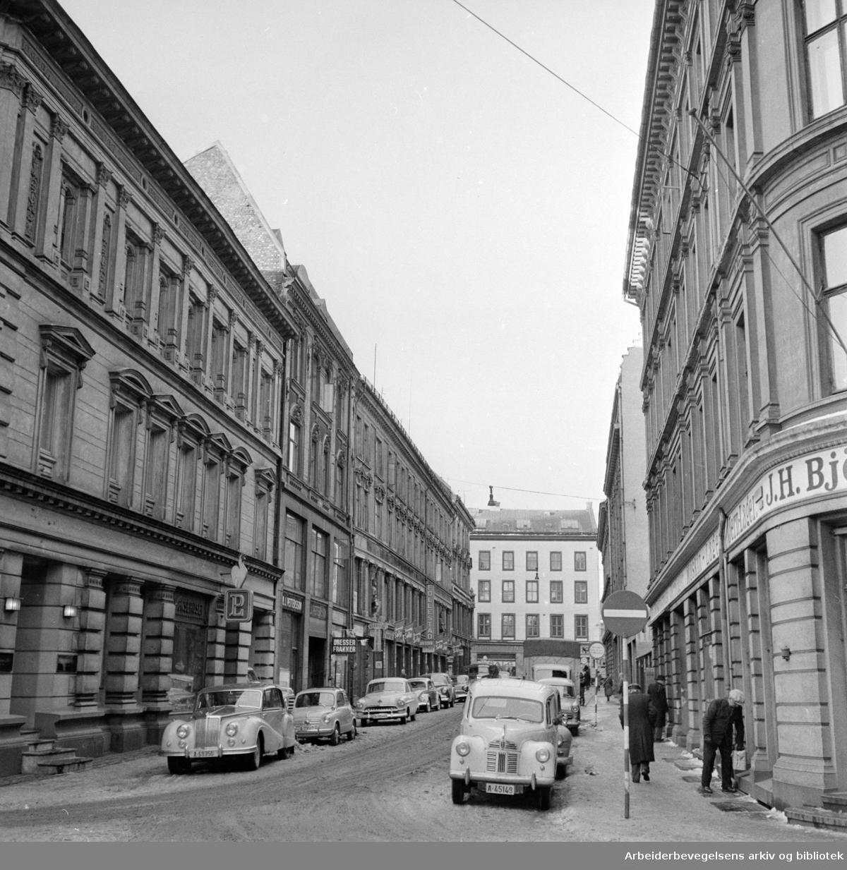 Lybekkergata. Januar 1958