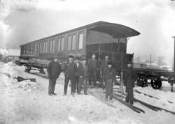 Jernbanevogn, 3 klasse, verkstedsarbeidere, Skabo jernbanevo