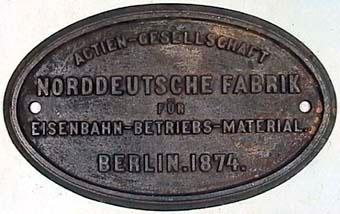 ACTIEN - GESELLSCHAFT NORDDEUTSCHE FABRIK FÃœR EISENBAHN - BETRIEBS - MATERIAL.  Modell/Fabrikat/typ: Ofärgad