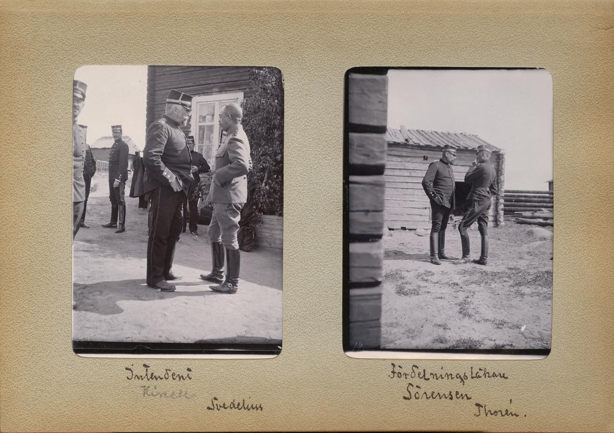 """Text i fotoalbum: """"Fördelningsläkare Sörensen, Thorén."""""""