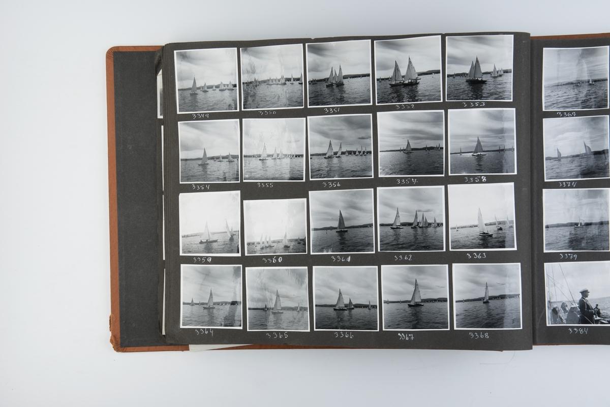Album med fotografier av sportsseilere og miljøet omkring dem 1953-1955. Fotografert av Grethe Bruu. Album nr. 4.