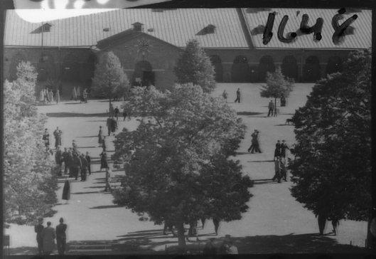 Regementets Dag 1955, A 6, Jönköping. Kaserngården.