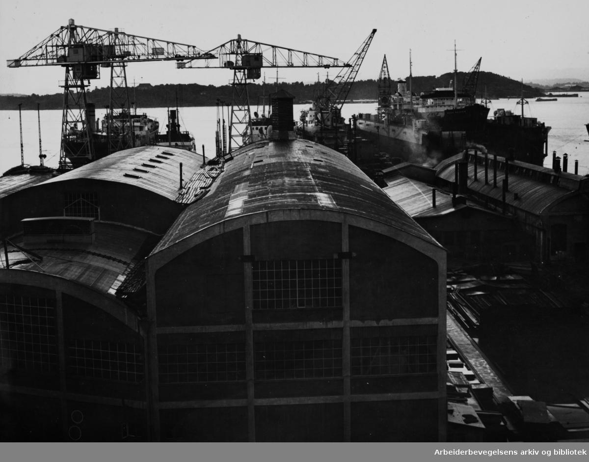 Akers mek. verksted. August 1949