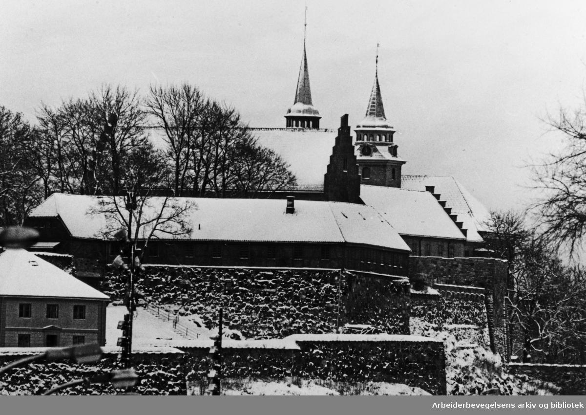 Akershus Festning. Januar 1983