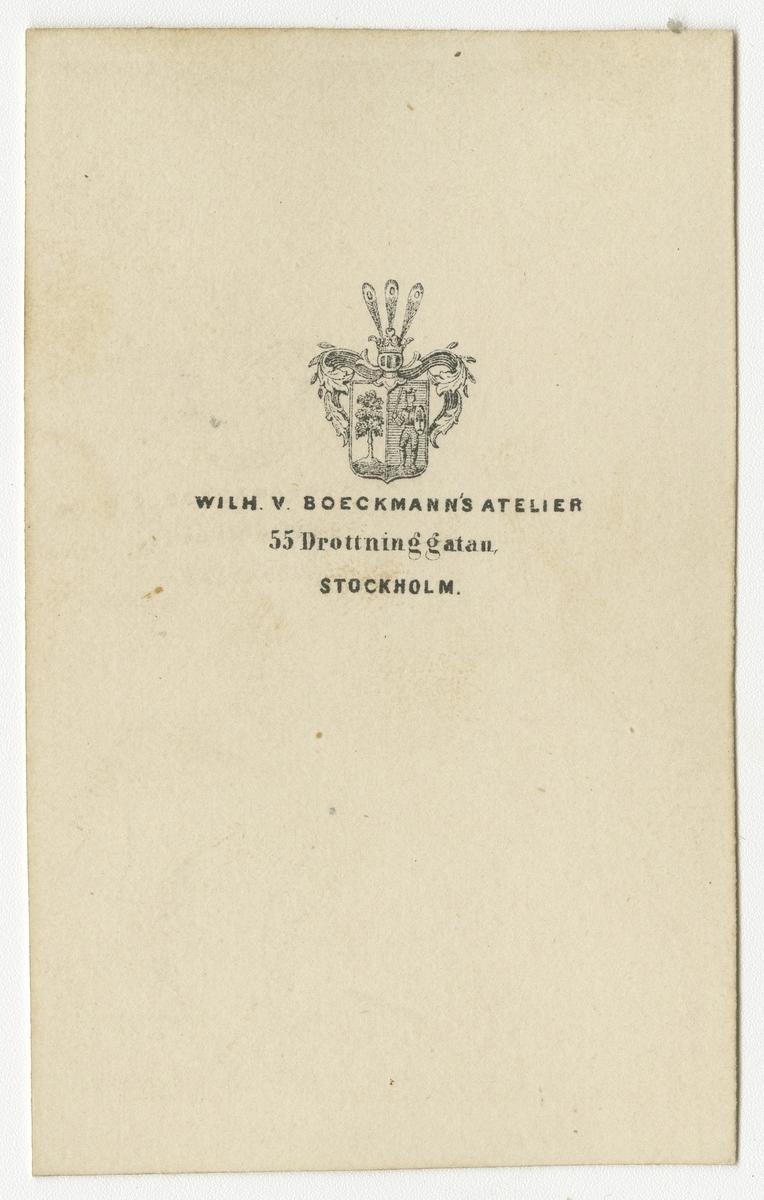 Porträtt av Otto Linderholm, kapten vid Västgöta regemente I 6.