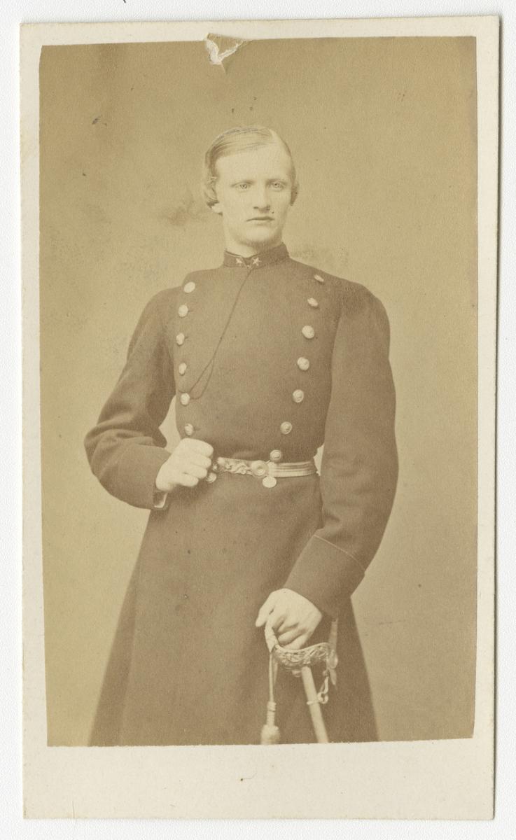Porträtt av Anders Paridon Stendahl, underlöjtnant vid Västgöta regemente I 6.
