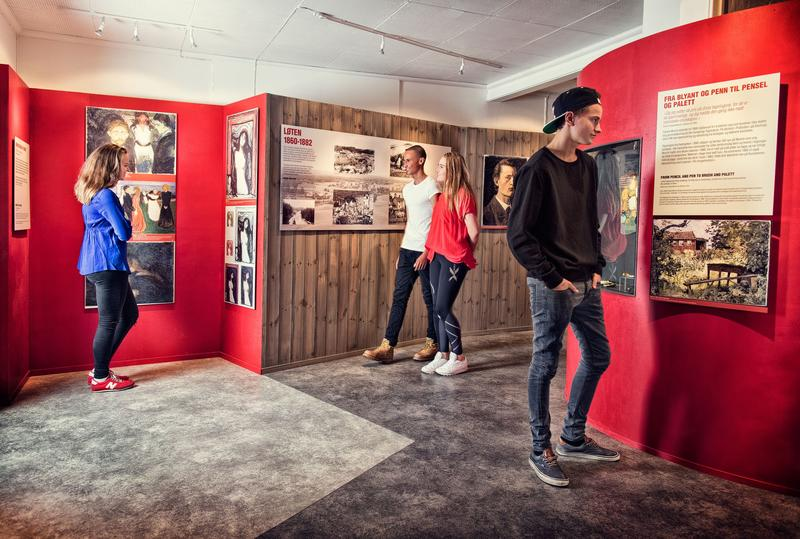 The Munch Center contains information about Munch's connection to Løten and also offers opportunities for experiences. (Foto/Photo)