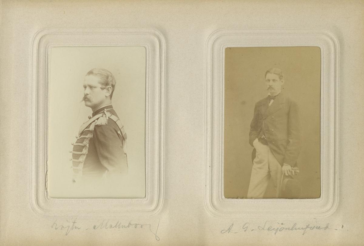 Porträtt av Oscar Carl Wilhelm Malmborg, löjtnant vid Husarregementet Konung Karl XV.