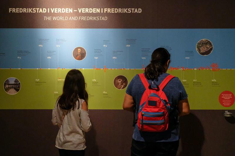 Tidslinje i utstilling på Tøihuset i Fredrikstad (Foto/Photo)