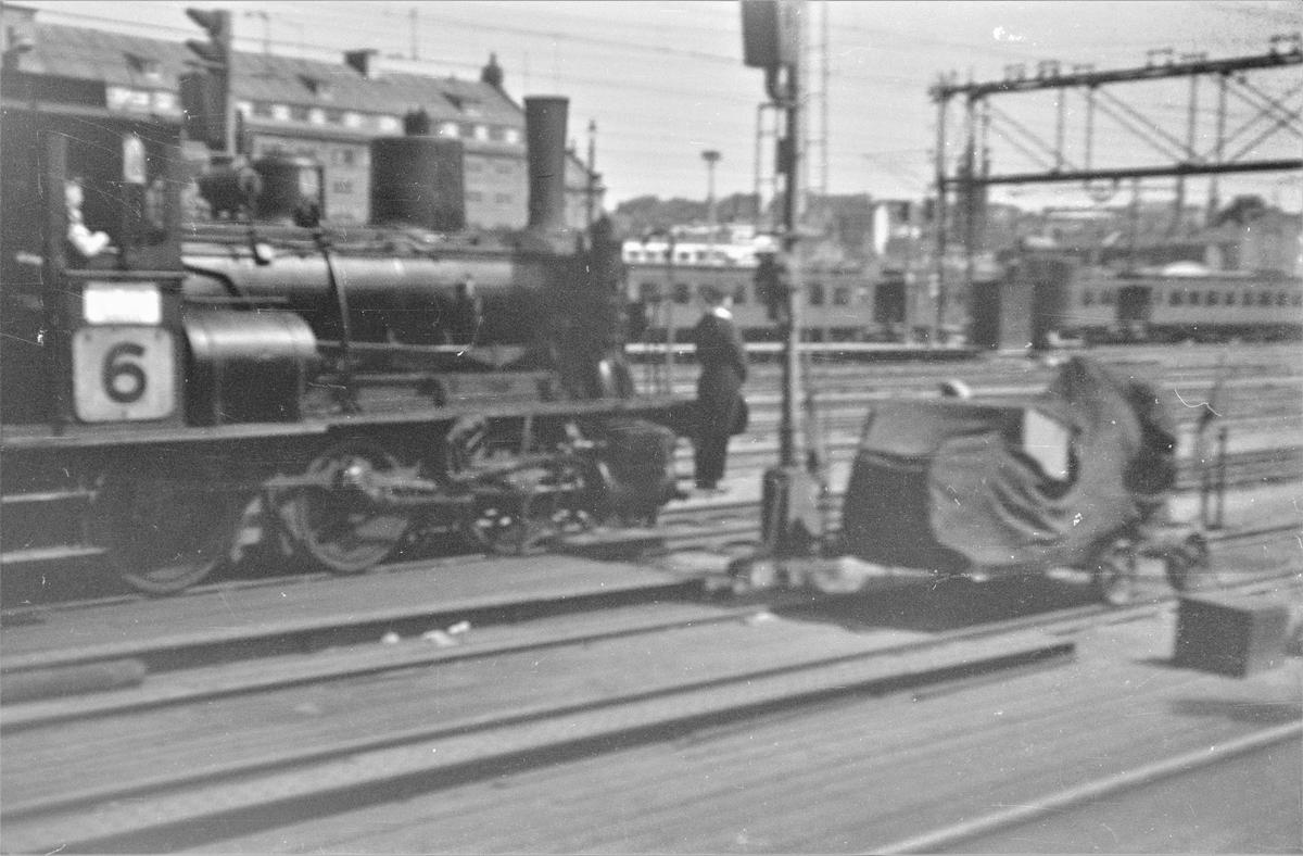 Damplokomotiv type 25e nr. 488 i skiftetjeneste på Oslo Østbanestasjon.