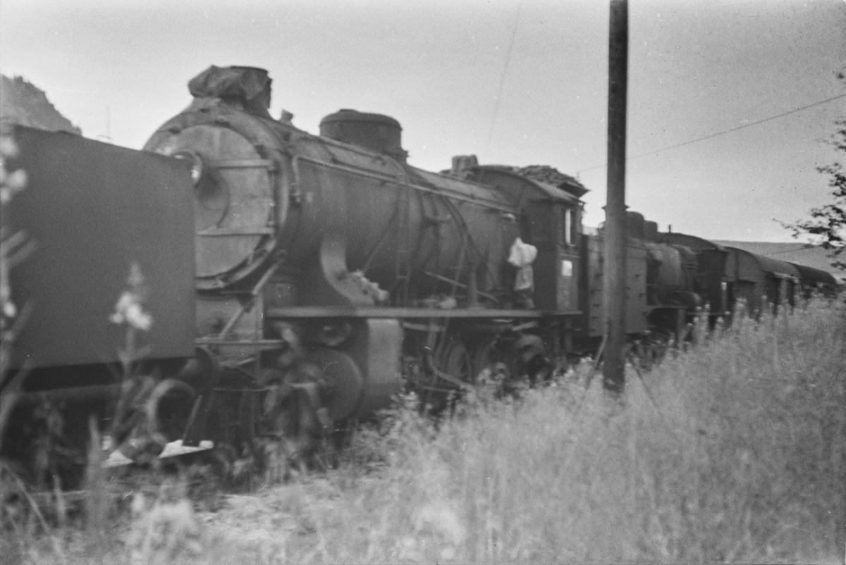 Utrangert damplokomotiv type 39a nr. 167 på Ål stasjon.