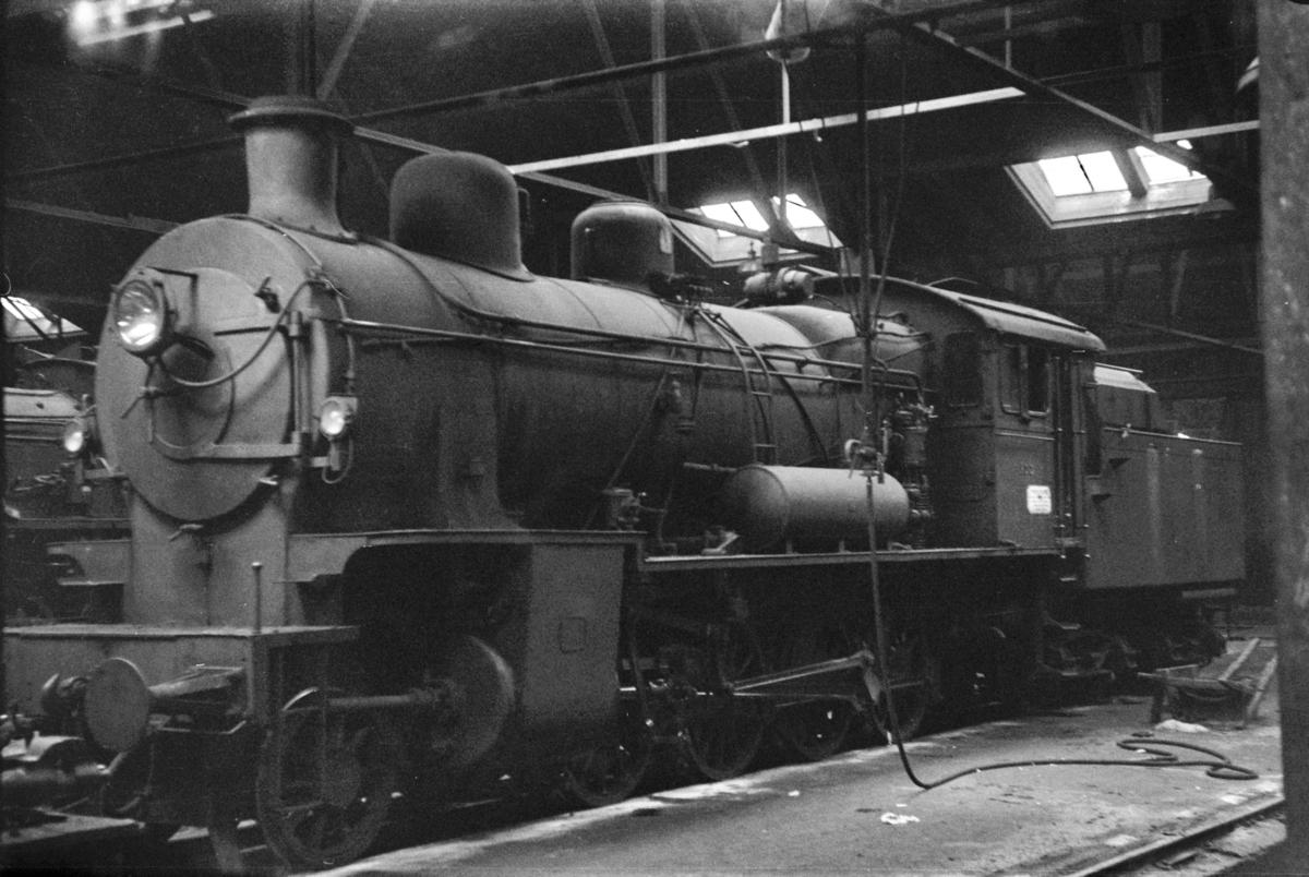 Damplokomotiv type 28b nr. 155 i Gamlestallen i Lodalen i Oslo.