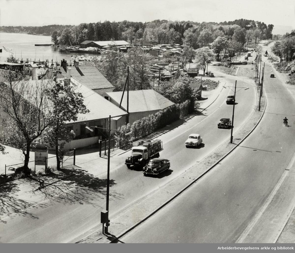 Drammensveien. Mørtelverket. Juni 1958