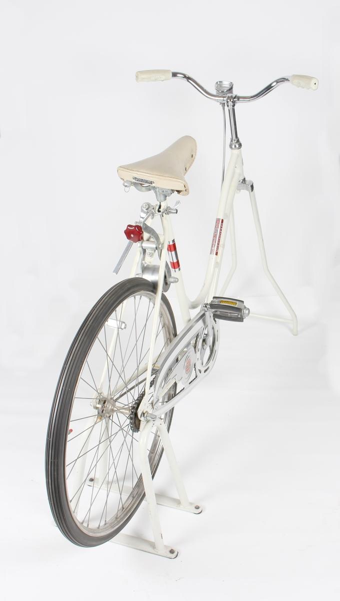 Mosjonsykkel med speedometer.