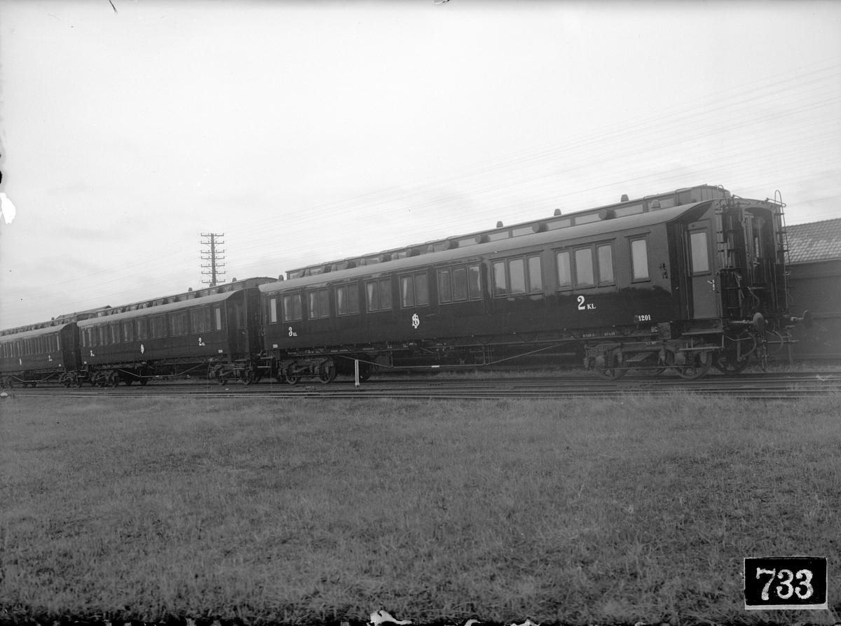 Statens Järnvägar, SJ BCo7 1201. Efter ombyggnad.