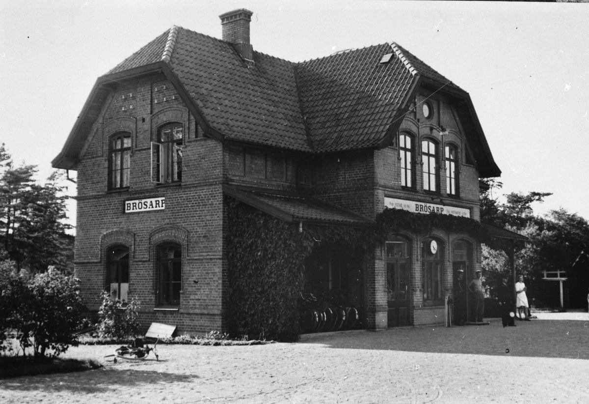 Brösarp järnvägsstation.