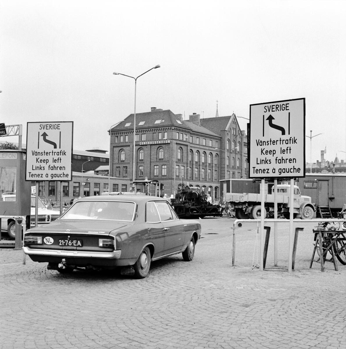 Reportage om SJ och högertrafiken i Örebro och Malmö