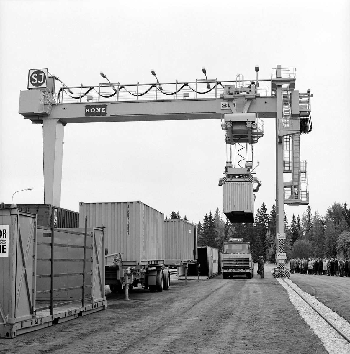 Västerås, containerterminal.