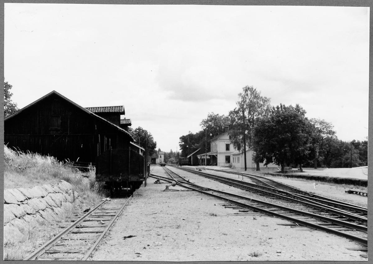Bangården vi Ankarsrum station.