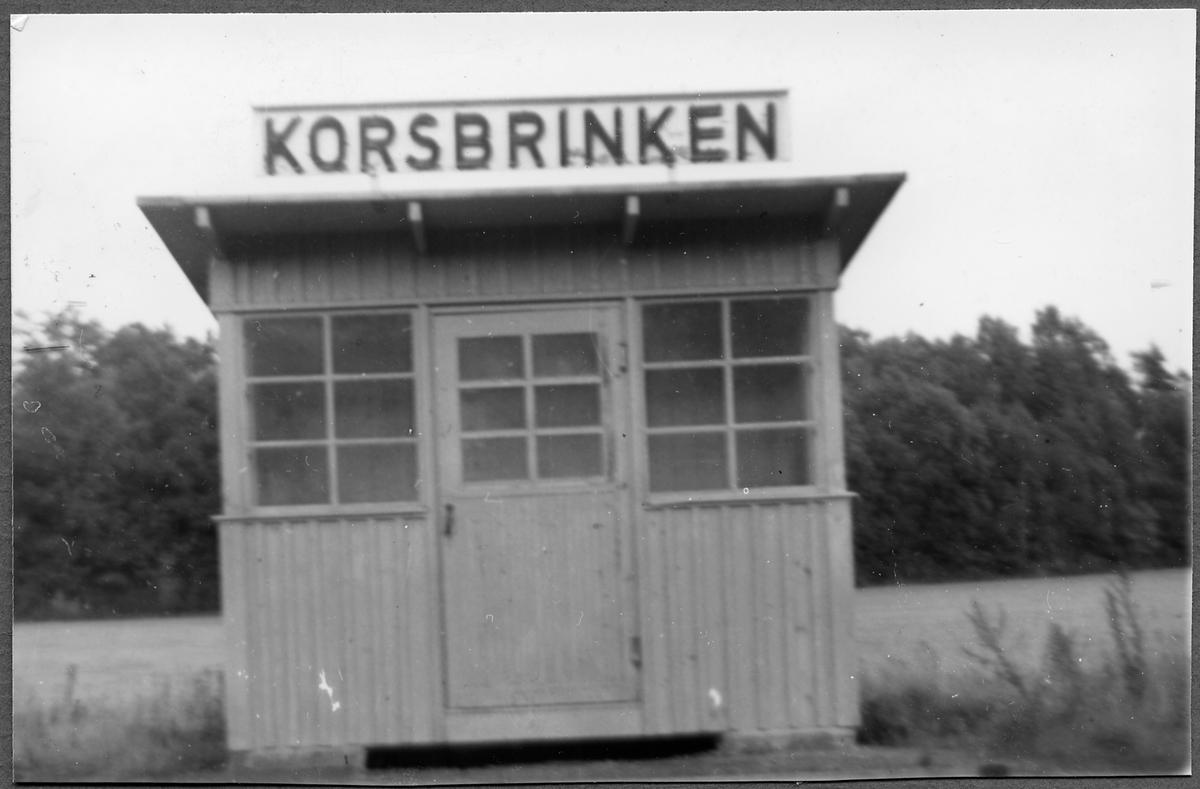 Håll- och lastplatsen i Korsbrinken.