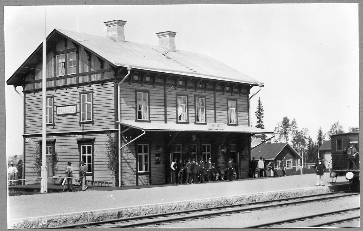 Hällnäs station i slutet av 1800-talet.