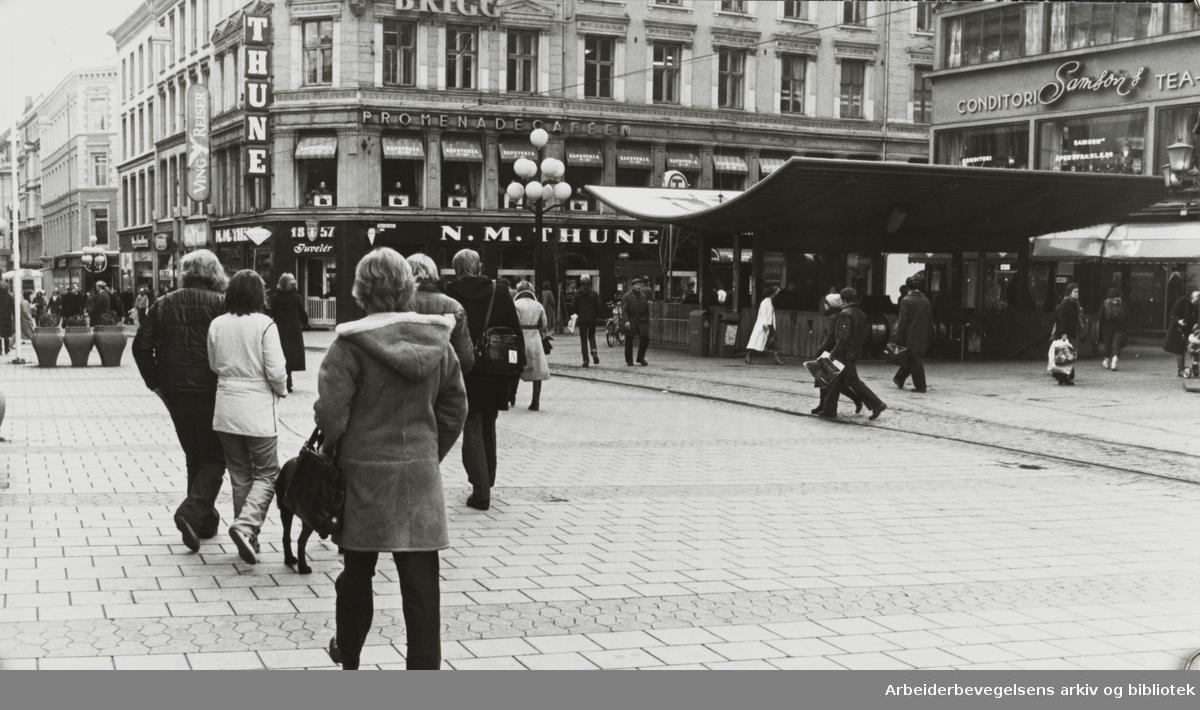 Egertorget. November 1980