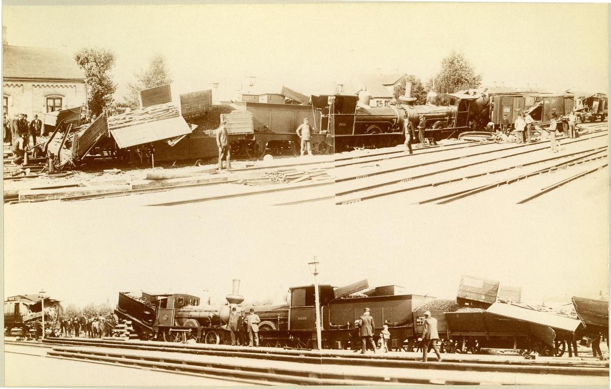 Järnvägsolyckan vid Staffanstorps station på bangården.Lund-trelleborgs Järnväg,LTJ. 1875 öppnades banan för trafik. Tillhörde Lund-Trelleborgs Järnväg, LTJ mellan 1875-1919.  1919 -1940 tillhörde den Landskrona-Lund-Trelleborgs Järnväg, LLTJ. Banan förstatligades 1940 och lades ner 1960.