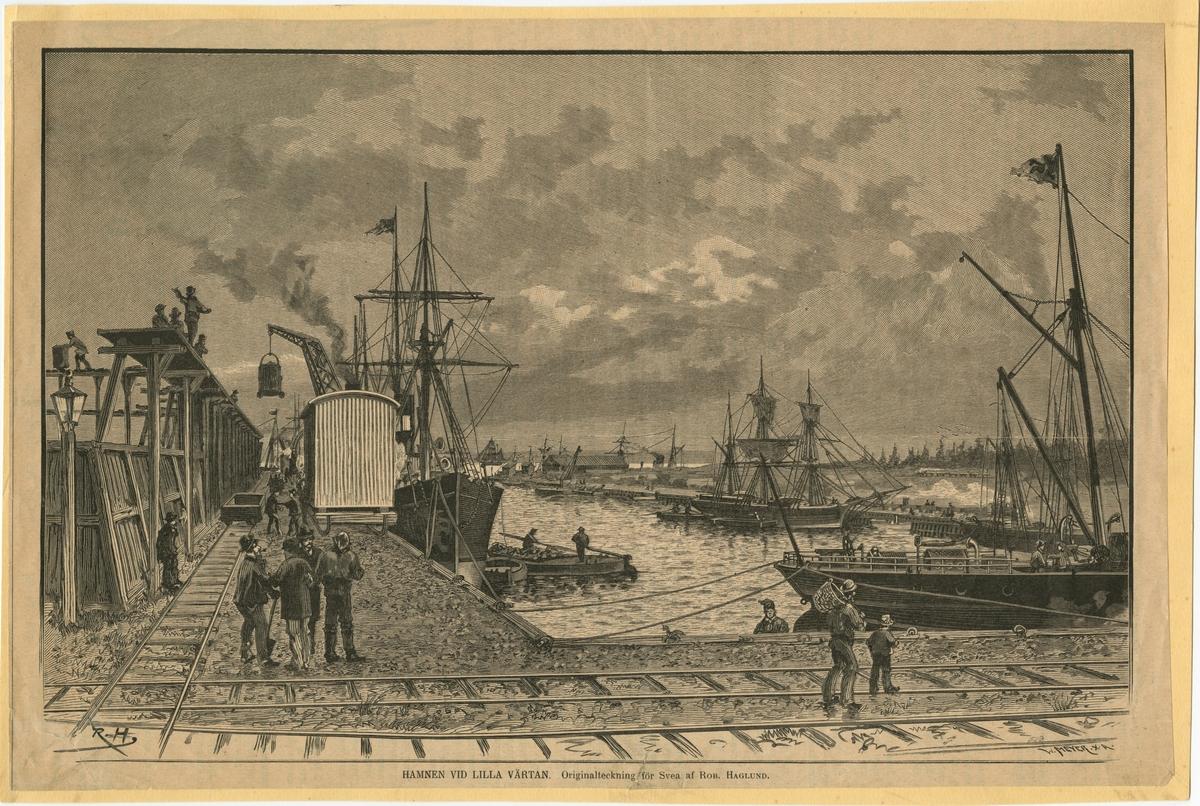 Hamnen vid Lilla Värtan,  Stockholm