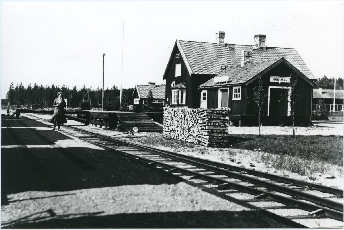 Sörtjärn station. Statens Järnvägar, SJ.