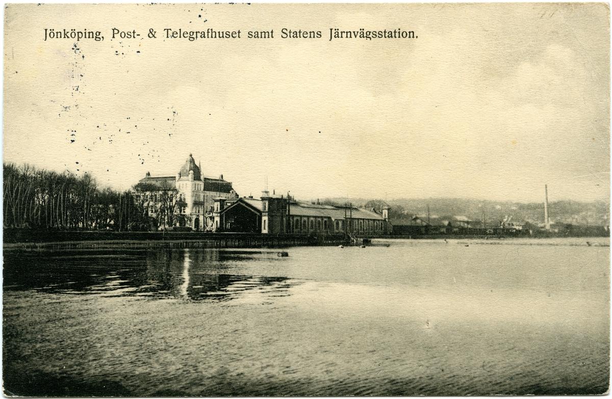 Järnvägsstationen, Post- och Telegrafhuset i Jönköping.