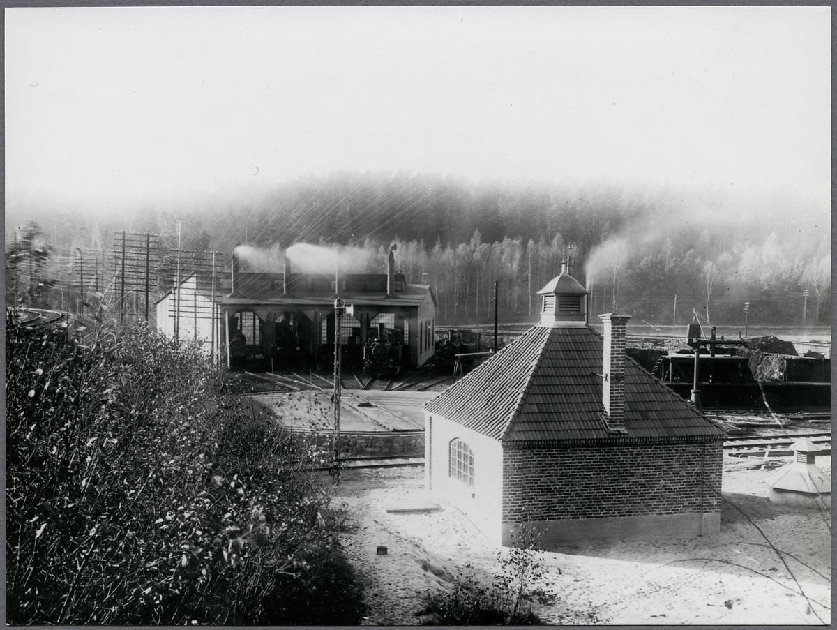 Pumpstation och lokstall vid Södertälje Södra
