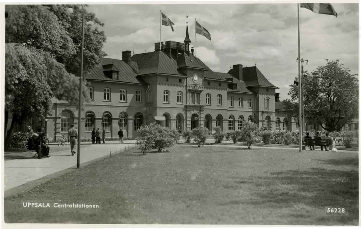 Vy vid Uppsala centralstation.