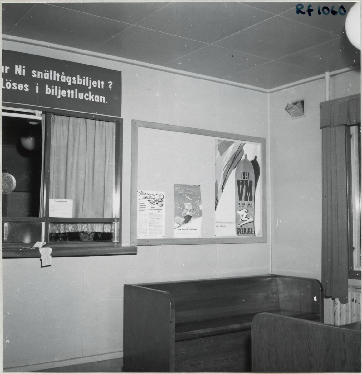 Interiör från Grycksbo station.