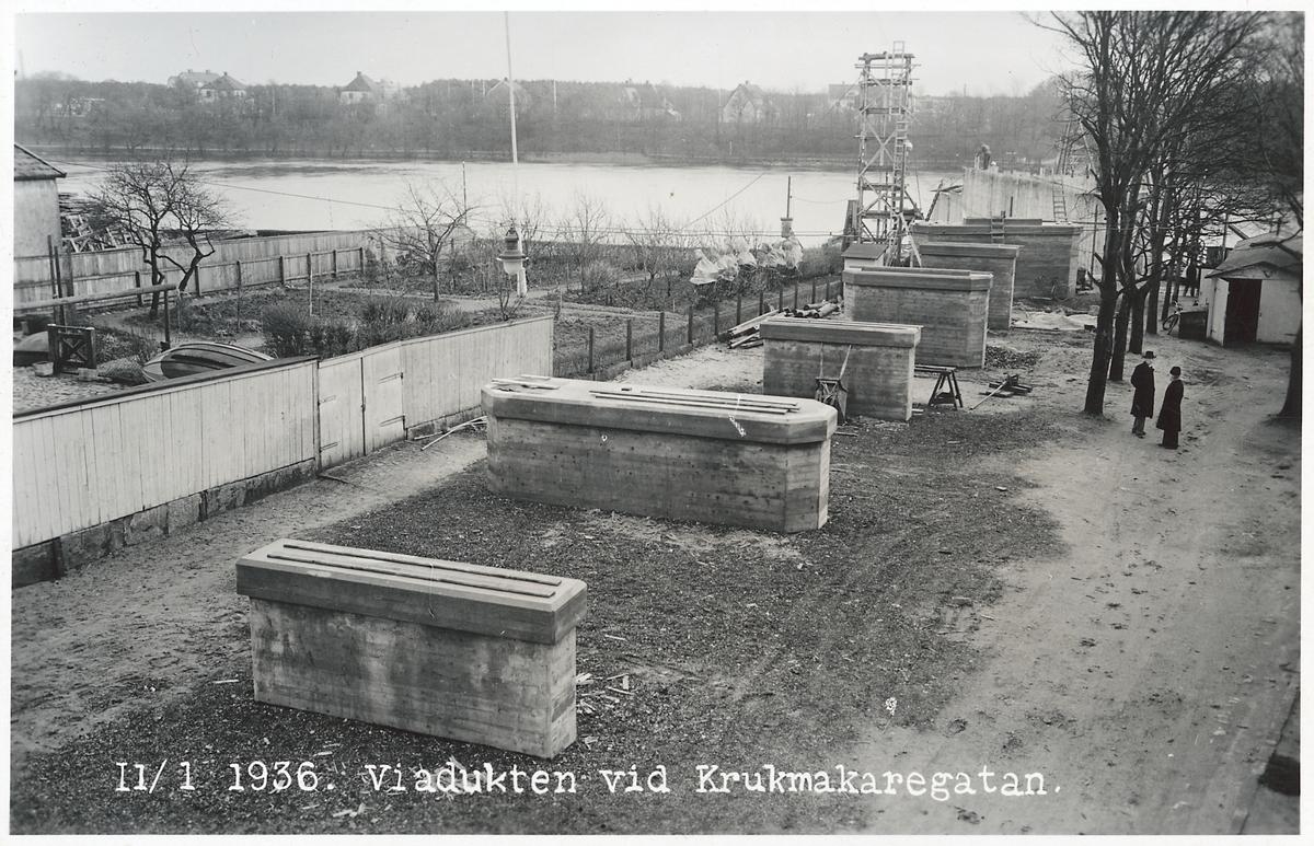 Viadukten vid Krukmakaregatan i Falkenberg.
