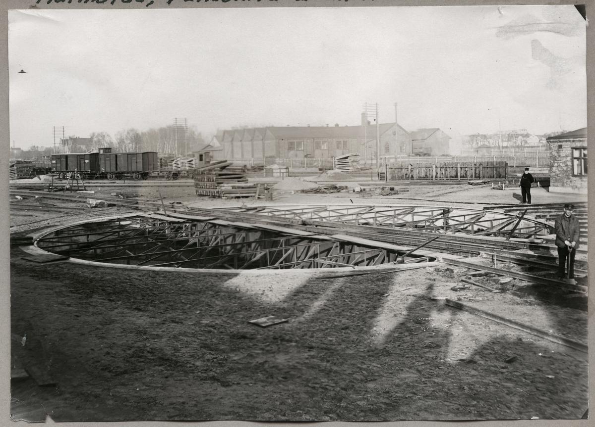 Vändskiva 20 meter bred i Halmstad 1922.