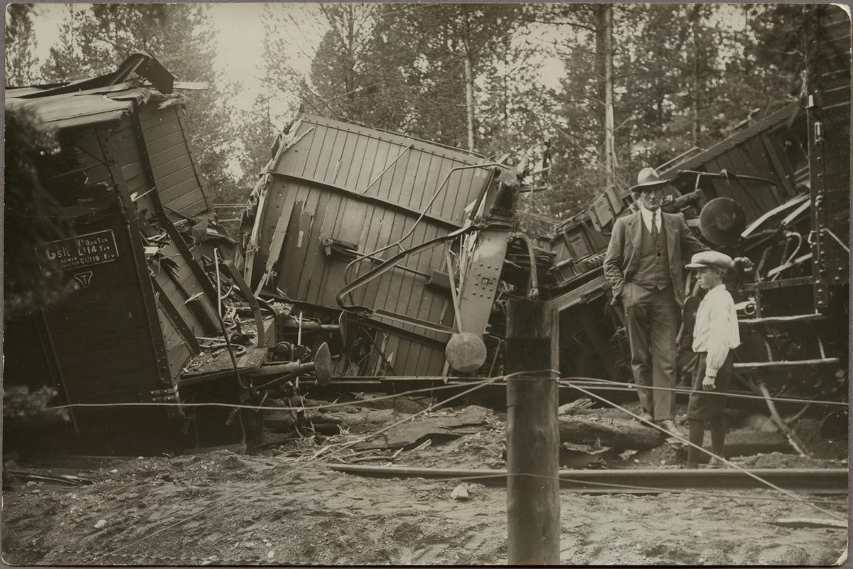 Järnvägsolycka med vältande godsvagn, Statens Järnvägar,  SJ Gsh.