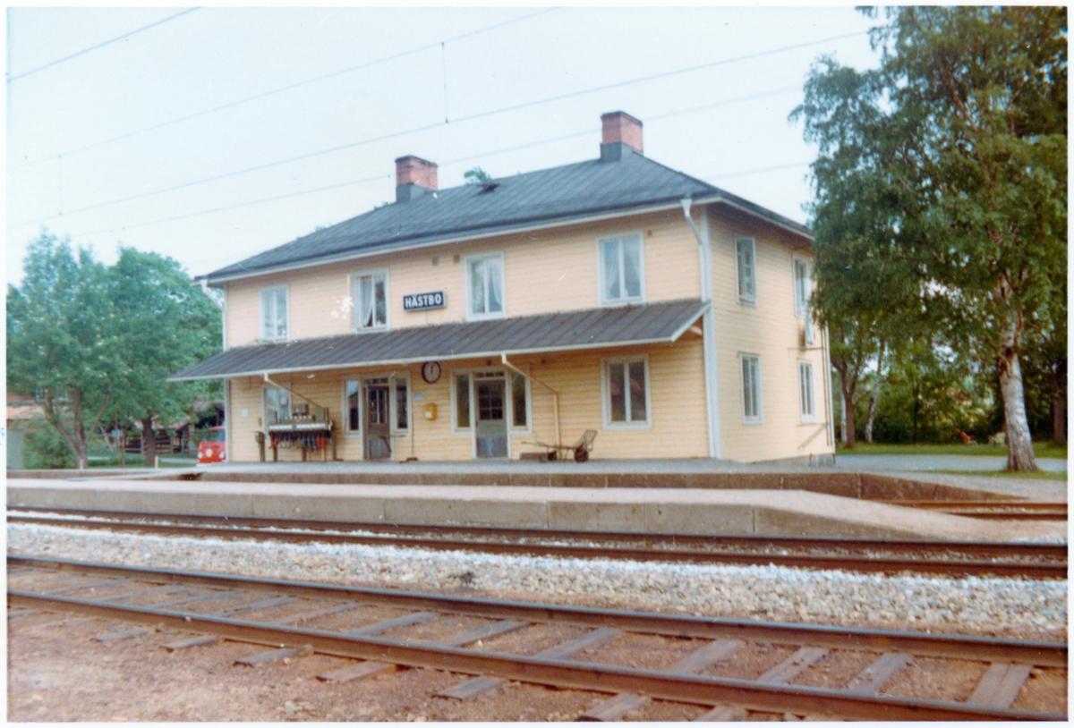 Hästbo station omkring år 1972.