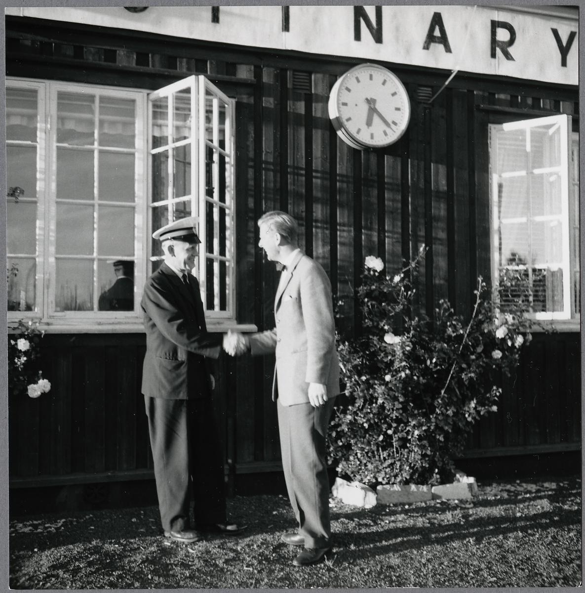 Bottnaryd trafikplats. Nedläggning av bandelen Ulricehamn - Jönköping den 1 september 1960.