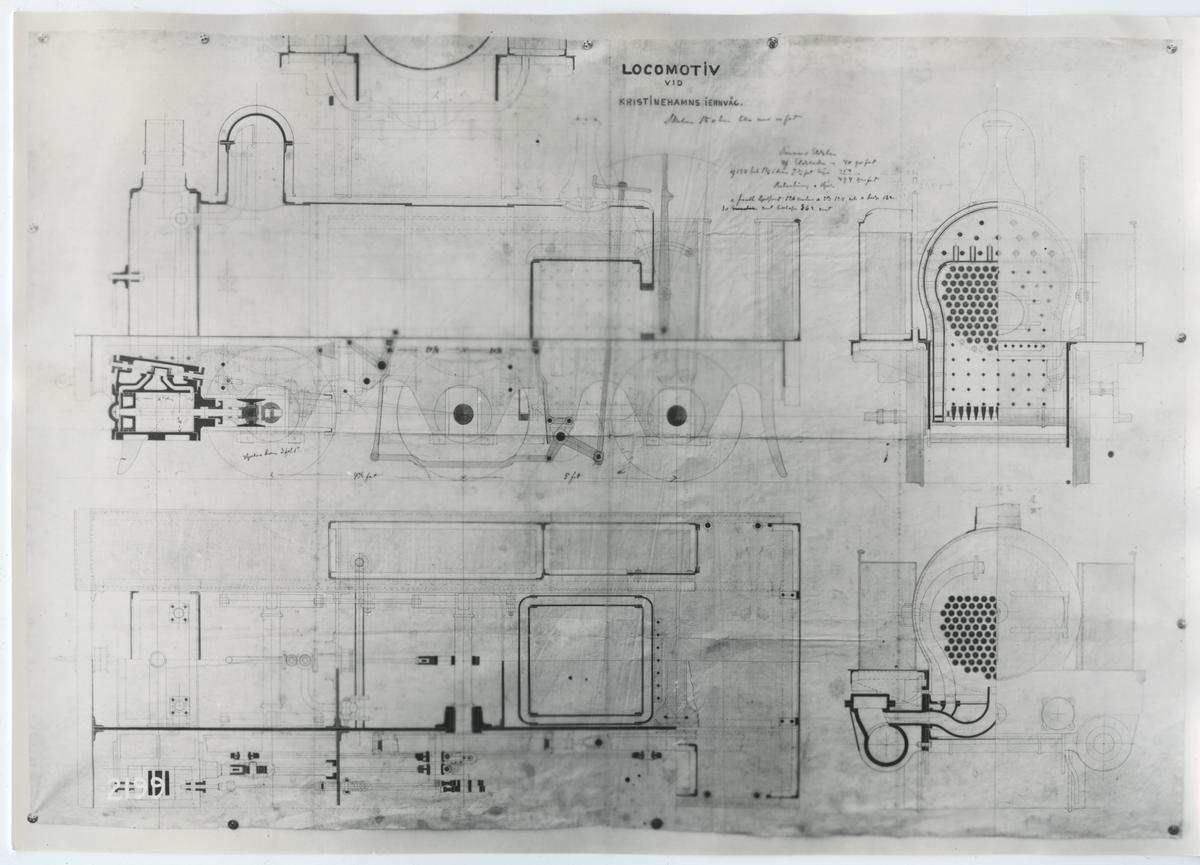 """Lok """"Vaulunder"""" tillverkades 1867 av Kristinehamns Mekaniska verkstad"""