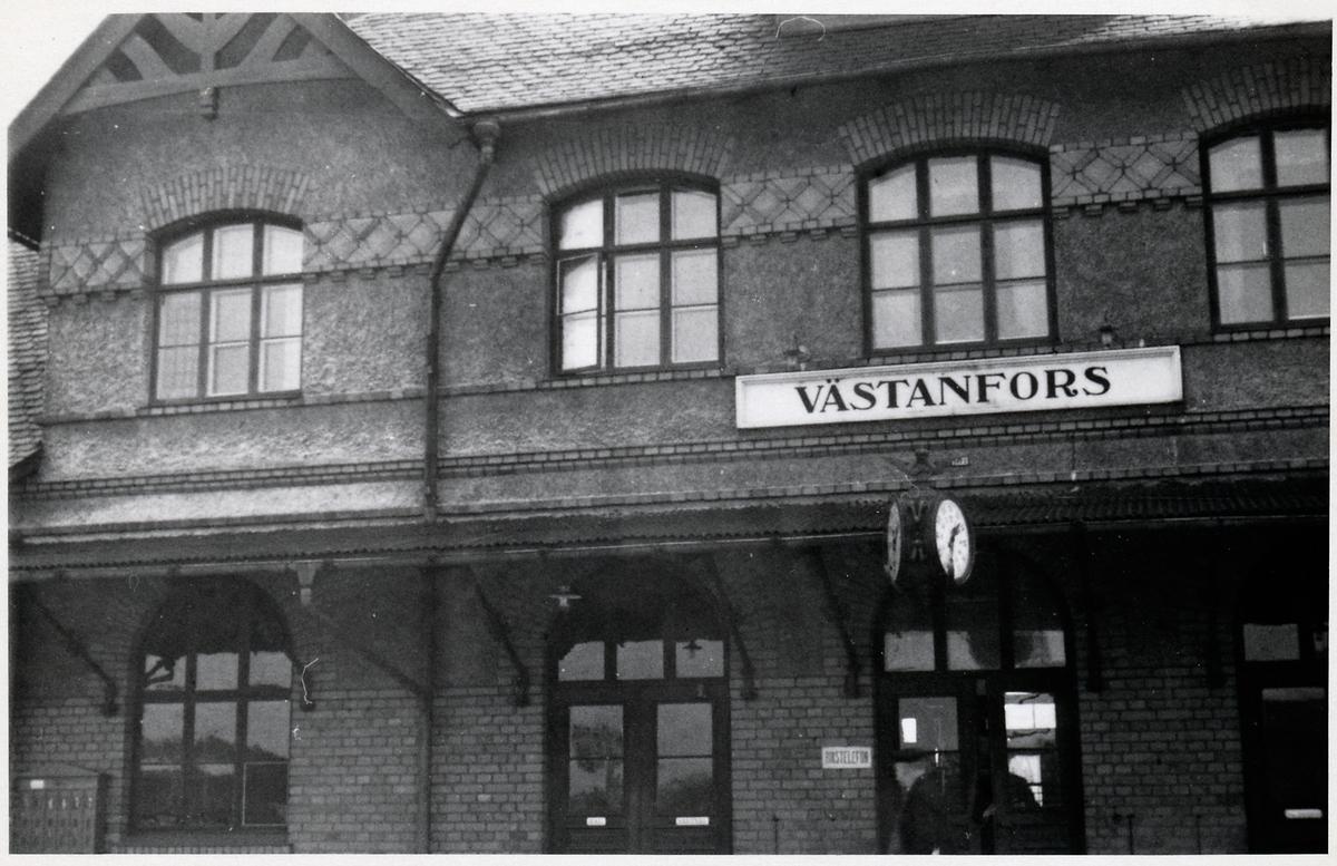 Västanfors station som senare bytte namn till Fagersta C.