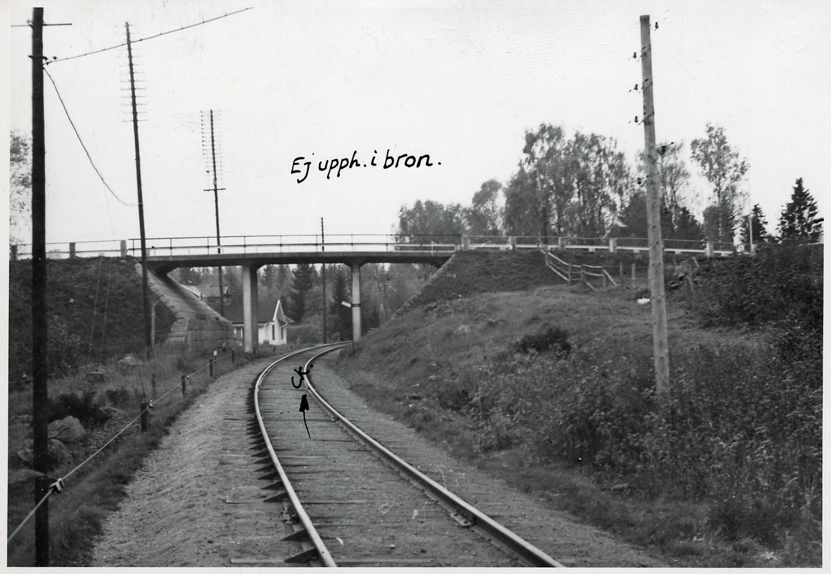 Vägbro över järnväg.