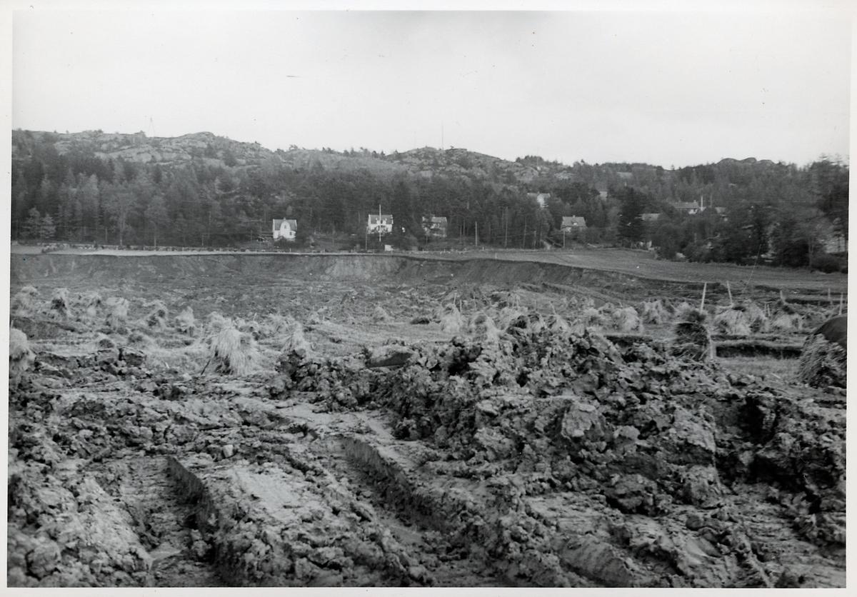 Efterdyningarna av jordskredet i Surte som inträffade den 29 september 1950.